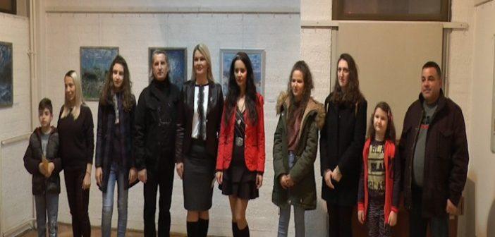 Дела настала за време Летњег атељеа изложена у Галерији Народног универзитета у Врању