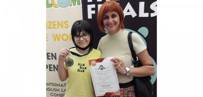 """Ученица ОШ """"Светозар Марковић"""" освојила сребро на Hippo језичкој олимпијади у Италији"""